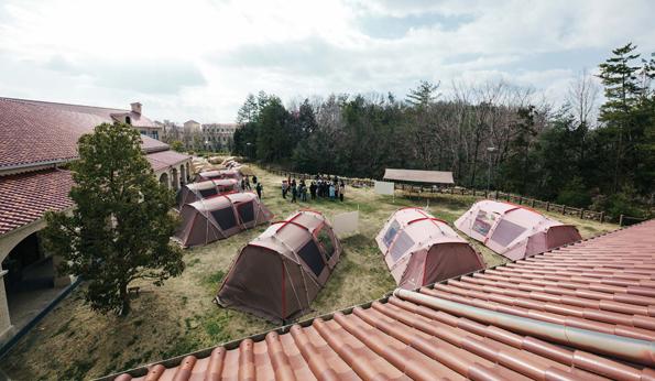 関西学院大学神戸三田キャンパスに設置された新たな学びのフィールド『Camping Campus』