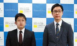 実務教育研究科・川山竜二研究科長(就任予定)(左)、同研究科 富井久義准教授(就任予定)(右)