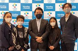 平井卓也デジタル改革担当大臣と参加した小中高生の皆さん