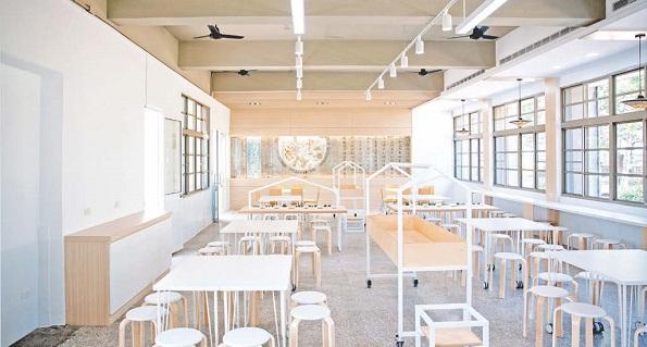 食堂のリノベーション(台南市新東国民小学校)