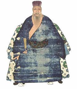 明倫堂を設立した程順則。高名な儒者で名護聖人と敬われた。